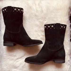 Michael Kors black studded booties